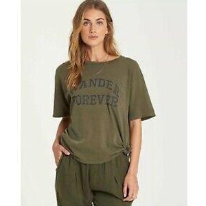 NWT  Billabong Olive Tie Pocket Tee Shirt